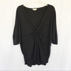 Silence & Noise gray batwing kimono style top XS